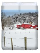 Platt Farm Square Duvet Cover by Bill Wakeley