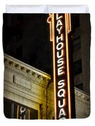 Playhouse Square Duvet Cover by Frozen in Time Fine Art Photography