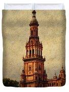 Plaza de Espana 2. Seville Duvet Cover by Jenny Rainbow