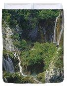 Plitvice Lakes In Croatia Duvet Cover by Rudi Prott