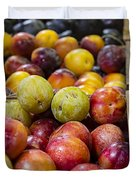 Plum Gorgeous Duvet Cover by Caitlyn  Grasso