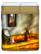 Plumber - The Wash Basin Duvet Cover by Mike Savad