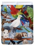 Pocket Pets Duvet Cover by Debbie LaFrance