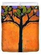 Poe Tree Art Duvet Cover by Blenda Studio