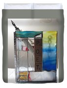 Poet Windowsill Box Duvet Cover by Karin Thue