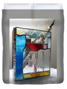 Poet Windowsill Box - Other View Duvet Cover by Karin Thue