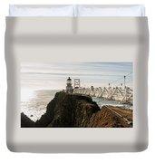 Point Bonita Lighthouse Duvet Cover by Georgia Fowler