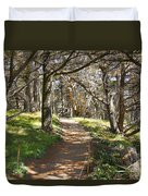 Point Lobos Cypress Path Duvet Cover by Jack Schultz