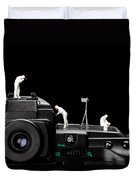 Police Investigate On A Camera Duvet Cover by Paul Ge