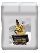 Pont Alexander IIi Fragment In Paris Duvet Cover by Elena Elisseeva