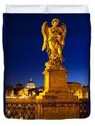 Ponte Sant Angelo Duvet Cover by Brian Jannsen