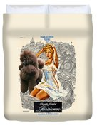Poodle Art - Una Parisienne Movie Poster Duvet Cover by Sandra Sij