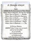 Pope Francis St. Francis Simple Prayer Faith On Fleury Duvet Cover by Desiderata Gallery