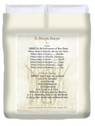 Pope Francis St. Francis Simple Prayer Lilly Of The Valley Duvet Cover by Desiderata Gallery