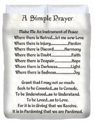 Pope Francis St. Francis Simple Prayer Peace On Parchment Duvet Cover by Desiderata Gallery