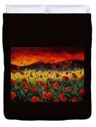 Poppies 68 Duvet Cover by Pol Ledent