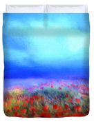 Poppies In The Mist Duvet Cover by Valerie Anne Kelly