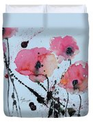 Poppies- Painting Duvet Cover by Ismeta Gruenwald