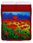 Poppy Corner II Duvet Cover by John  Nolan
