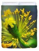 Poppy Seed Capsule 2 Duvet Cover by Kaye Menner