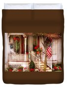 Porch - Americana Duvet Cover by Mike Savad