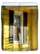 Porch - Long Afternoon Shadow Of Rocking Chair Duvet Cover by Susan Savad