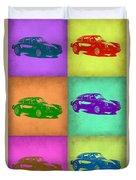 Porsche 911 Pop Art 2 Duvet Cover by Naxart Studio