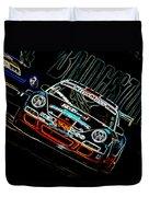Porsche 911 Racing Duvet Cover by Sebastian Musial