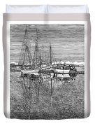 Reflections Of Port Orchard Washington Duvet Cover by Jack Pumphrey