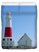Portland Bill Lighthouse Duvet Cover by Terri  Waters