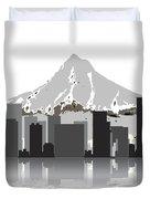 Portland Oregon Skyline 2 Duvet Cover by Daniel Hagerman