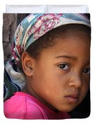 Portrait Of A Berber Girl Duvet Cover by Ralph A  Ledergerber-Photography