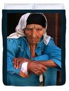 Portrait Of A Berber Woman Duvet Cover by Ralph A  Ledergerber-Photography