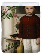 Portrait of a Boy Duvet Cover by James B Read
