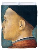 Portrait of a Man Duvet Cover by Andrea Mantegna