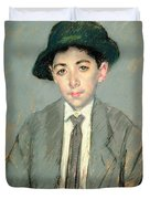 Portrait Of Charles Dikran Kelekian Duvet Cover by Mary Stevenson Cassatt
