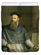 Portrait Of Daniele Barbaro Duvet Cover by Paolo Caliari Veronese