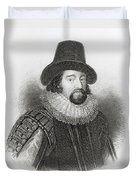 Portrait Of Francis Bacon Duvet Cover by English School