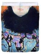 Portrait of Johanna Staude Duvet Cover by Gustav Klimt