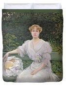 Portrait Of Marguerite Durand Duvet Cover by Jules Cayron