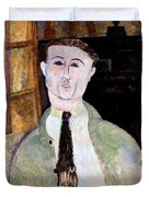 Portrait Of Paul Guillaume Duvet Cover by Amedeo Modigliani