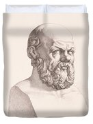 Portrait of Socrates Duvet Cover by CC Perkins