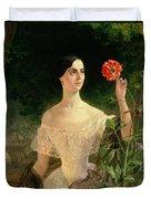 Portrait Of Sofia Andreyevna Shuvalova Duvet Cover by Karl Pavlovich Bryullov