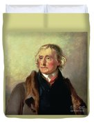 Portrait Of Thomas Jefferson Duvet Cover by Thomas Sully