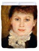 Portrait Of Woman Duvet Cover by Pierre-Auguste Renoir