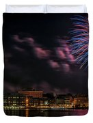 Portsmouth Nh Fireworks 2013 Duvet Cover by Scott Thorp