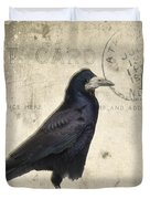 Post Card Nevermore Duvet Cover by Edward Fielding