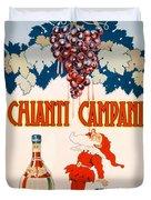 Poster Advertising Chianti Campani Duvet Cover by Necchi
