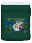 Pot Of Daisies 02 - S11bl01 Duvet Cover by Variance Collections