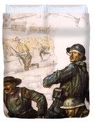 POUR LA VICTOIRE - W W 1 - 1918 Duvet Cover by Daniel Hagerman